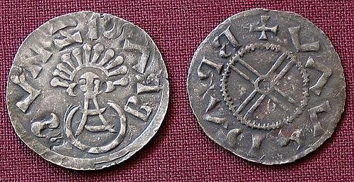 Bretislaus I Denarius Moravia 1019-1034 fine silver replica coin