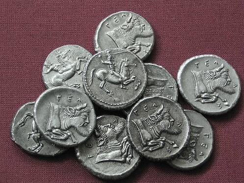 Gela Didrachm Greece 465-450 BC tin replica coin