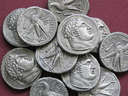 Judas' 30 Pieces of Silver coin in hand minted tin replica coin