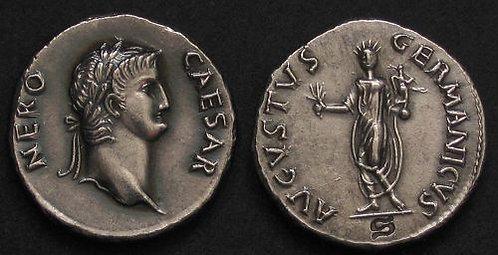Nero Denarius Rome 54-68 AD fine silver replica coin