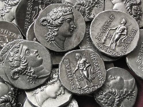 Thasos Tetradrachm Greece circa148 BC tin replica coin