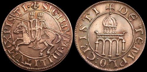 Templar Denarius token copper