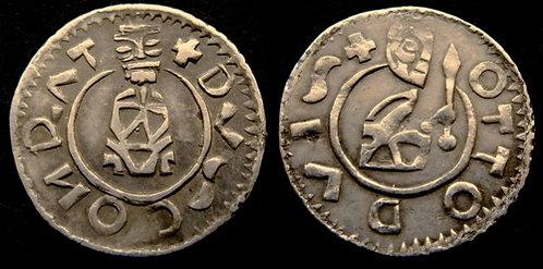 Conrad I and Otto I Denarius Moravia Brno 1055-1061 fine silver replica coin