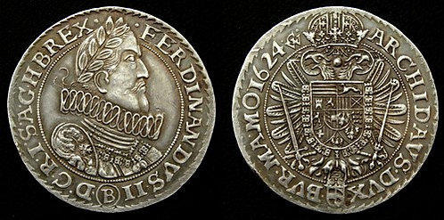 Ferdinand II Thaler Moravia Brno 1619-1637 fine silver replica coin