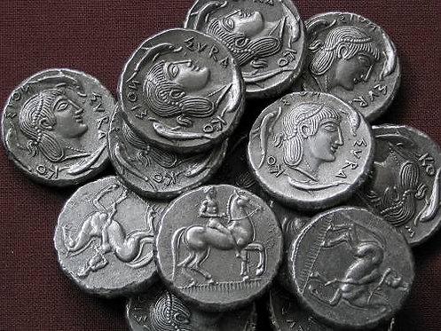 Syracuse Didrachm Greece 474-450 BC tin replica coin