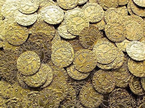 Charles IV Ducat Bohemia 1346-1378 brass replica coin