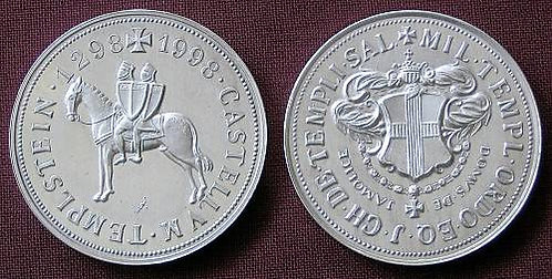 Templar castle Templstein medallion fine silver