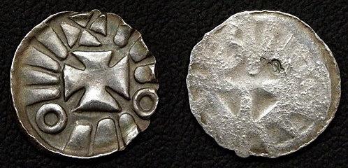 Magdeburg Denarius Germany 10th-11th cent. fine silver replica coin