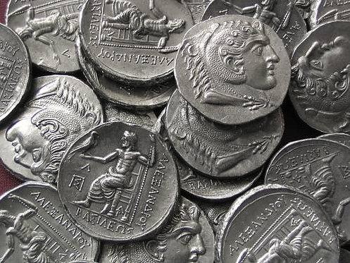 Alexander the Great Tetradrachm Greece posthumous issue tin replica coin