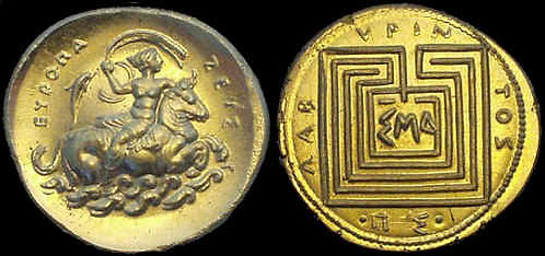 Europa commemorative Stater medallion fine gold