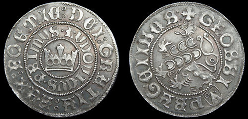 Louis Jagiellon Prague Groschen Bohemia 1516-1526 fine silver replica coin