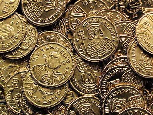 Michael III Solidus Byzantine 842-867 AD brass replica coin