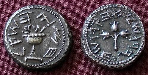 First revolt HalfShekel Judea 66-70 AD fine silver replica coin