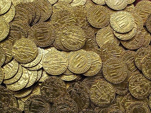 Iobst of Luxembourg Ducat Moravia Brno 1375-1411 brass replica coin