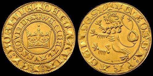 Wenceslas II Prague Groschen Limited Edition 2010 fine gold replica coin