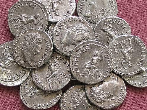 Nero Denarius Rome 54-68 AD tin replica coin