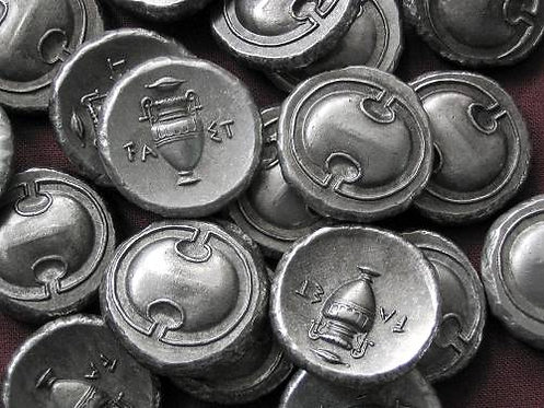 Thebes Stater Greece 379-371 BC tin replica coin