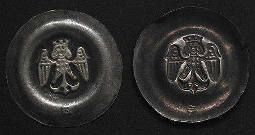 Wenceslas II Bracteat Bohemia 1300-1305 fine silver replica coin