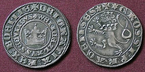 Wenceslas II Prague Groschen Bohemia 1278-1305 fine silver replica coin