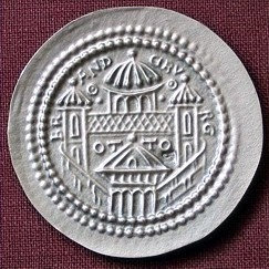 Otto von Brandenburg Bracteat Germany circa 1170 fine silver replica coin