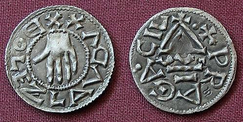 Boleslaus I Denarius Bohemia 935-972 fine silver replica coin