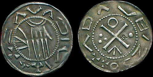 Sc. Adalbertus Denarius Bohemia 957-997 fine silver replica coin