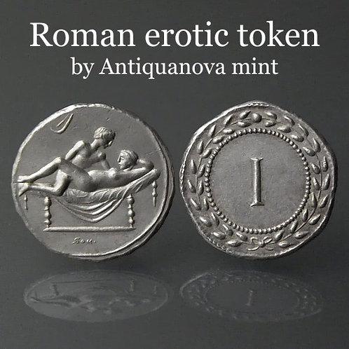Erotic token Spintriae I Rome 1st century AD tin replica coin
