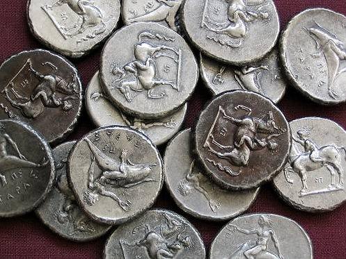 Tarent Didrachm Greece 380-345 BC tin replica coin