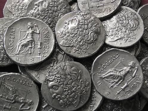 Pyrrhos Tetradrachm Greece 295-272 BC tin replica coin