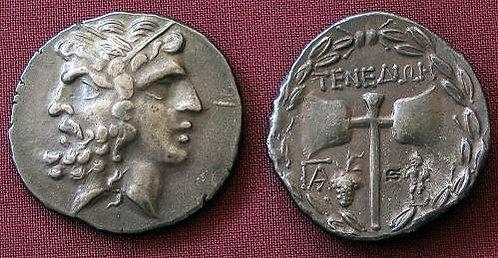 Tenedos Tetradrachm Greece 2nd century BC fine silver replica coin