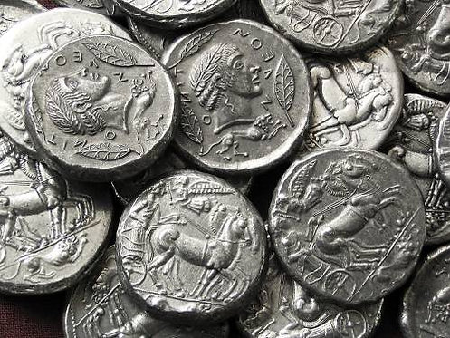 Leontinoi Tetradrachm Greece circa 480 BC tin replica coin