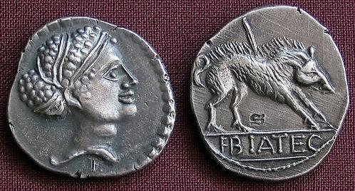 Celtic Stater Central Europe 1st century BC fine silver replica coin