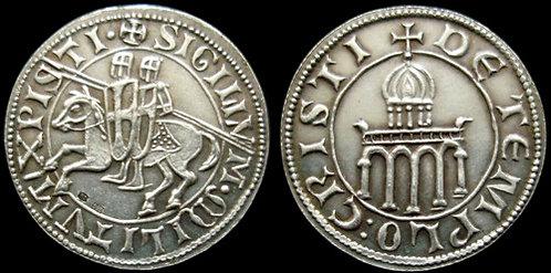 Templar Denarius token fine silver