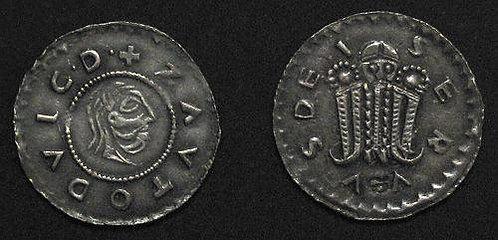 Svatopluk Denarius Moravia Olomouc 1065-1107 fine silver replica coin
