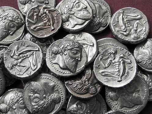 Naxos Didrachm Greece 461-430 BC tin replica coin
