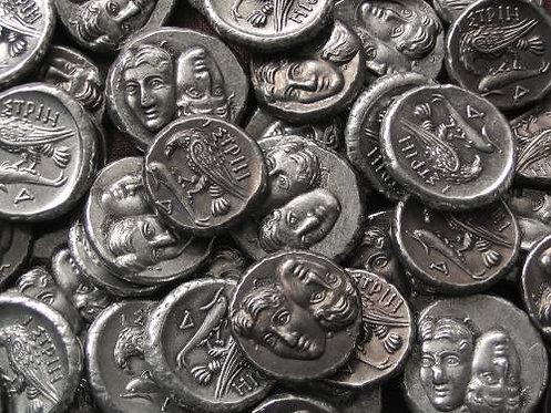 Istros Stater Greece 400-320 BC tin replica coin