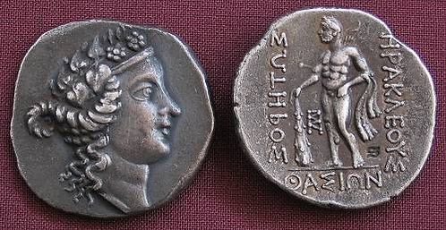 Thasos Tetradrachm Greece circa148 BC fine silver replica coin