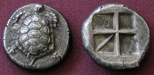 Aigina Stater Greece 404-340 BC fine silver replica coin