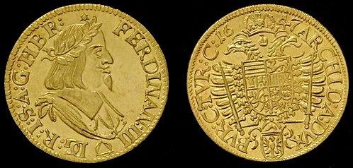Ferdinand III Ducat Moravia Brno 1637-1657 brass replica coin