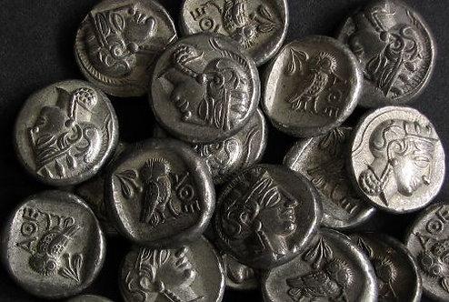 Athens Drachm Greece 5th century BC tin replica coin