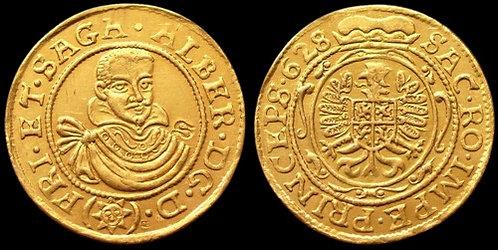 Albrecht von Wallenstein Ducat Bohemia 1625-1634 fine gold replica coin