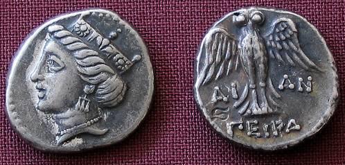 Amisos Drachm Greece 400-350 BC fine silver replica coin