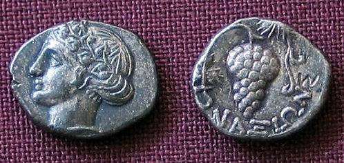Naxos Obol Greece 5th century BC fine silver replica coin