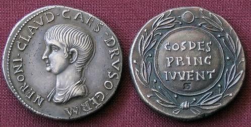 Nero Cistophorus Rome 54-68 AD fine silver replica coin