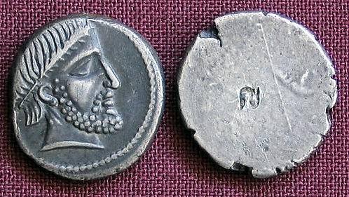 Etruscii Hemidrachm Etruria 4th century BC fine silver replica coin