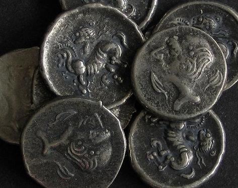 Celtic Hemidrachm Danube area 3rd-2nd century BC tin replica coin