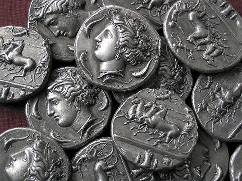 Syracuse Dekadrachm Greece 405-380 BC tin replica coin