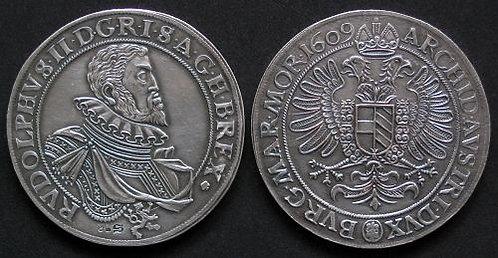 Rudolf II Thaler Bohemia 1576-1611 fine silver replica coin
