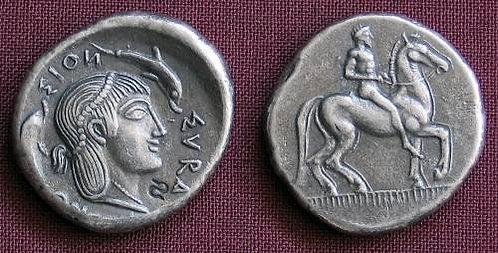 Syracuse Didrachm Greece 474-450 BC fine silver replica coin
