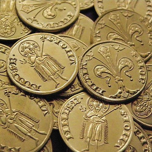 Florence Fiorino d'oro (Florin) 1252-1300 brass replica coin